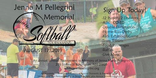 3rd Annual Jenna M Pellegrini Memorial Softball Tournament