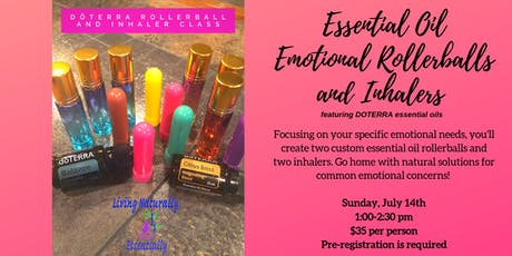 Essential Oil Emotional Rollerballs and Inhalers tickets