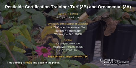 Pesticide Certification Training: Turf (3B) and Ornamental (3A) tickets