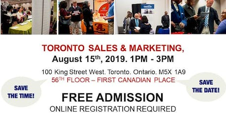Toronto Sales & Marketing Job Fair - August 15th, 2019 tickets