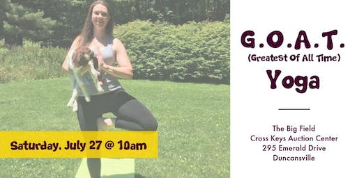 GOAT Yoga (for ages 15+)