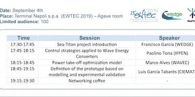 SeaTitan Workshop at EWTEC2019