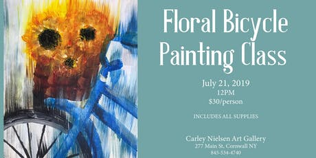 Floral Bicycle Painting Class tickets
