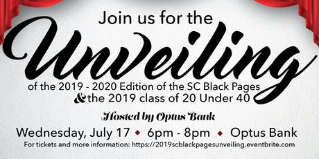 2019 SC Black Pages Unveiling & 20 Under 40 Reception tickets