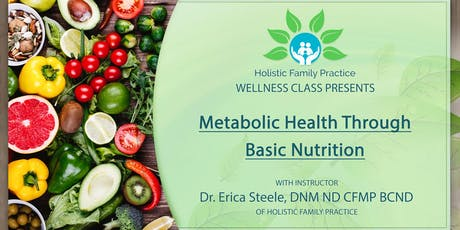 Metabolic Health through Basic Nutrition tickets