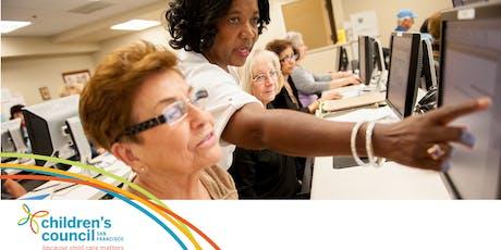 Early Educator Workshop: CA Workforce Registry (Registro del Personal de Cuidado y Educación Temprana de California en ESPAÑOL) 20191210 tickets
