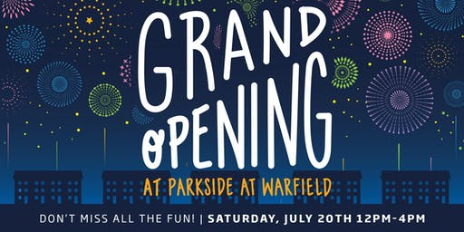 Model Grand Opening: Parkside at Warfield!