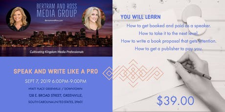 Bertram and Ross Media Group:  Speak and Write Like a Pro tickets