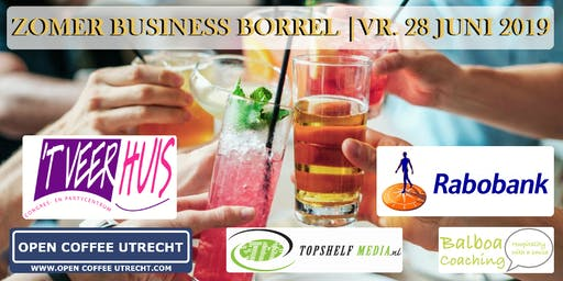 NETWERKEN - ZOMER BUSINESS BORREL | OPEN COFFEE UTRECHT | 28 JUNI 2019
