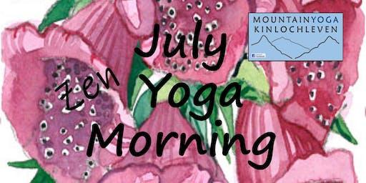 July Zen Yoga Morning