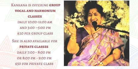 Music Classes with Kankana Banerjee Vocal /Harmonium Classes tickets