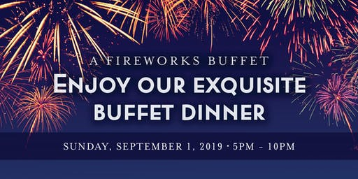 Chart House Labor Day Fireworks Buffet- Cincinnati, KY