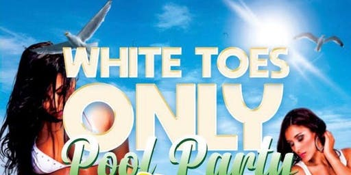 White Toes Only Pool Party