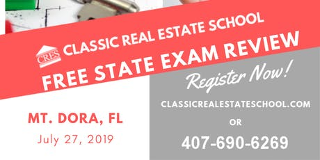 Free FL 63hrs State Exam Review tickets