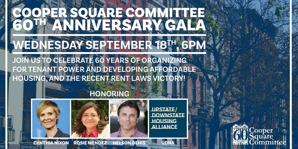 Cooper Square Committee 60th Anniversary Gala! Tickets, Wed