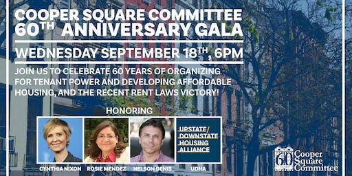 Cooper Square Committee 60th Anniversary Gala!