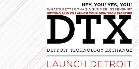 DTX Launch Detroit Showcase 2019 tickets