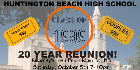 Huntington Beach High School Class of 1999 20 Year Reunion tickets