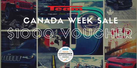 Canada Day Week | $1000 Off All Online New Car Prices tickets