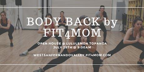 Body Back Open House tickets