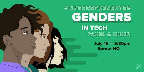 Underrepresented Genders in Tech: Panel & Mixer tickets
