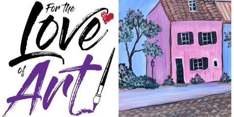 Paint and Sip Class: Charleston Pink House tickets