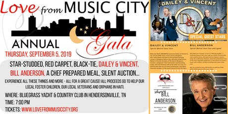 Love From Music City 2019 Gala with Dailey & Vincent & Bill Anderson tickets