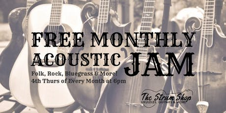 Free Monthly Acoustic Jam tickets