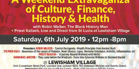 A Weekend Extravaganza of Culture, Finance, History and Health tickets