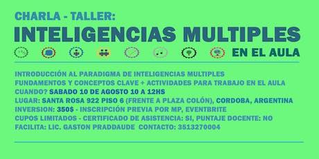Charla-taller 'Inteligencias Múltiples en el Aula' entradas