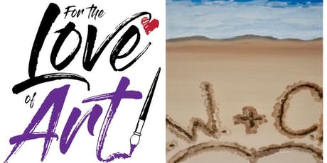 Paint and Sip Class: Your Beach tickets