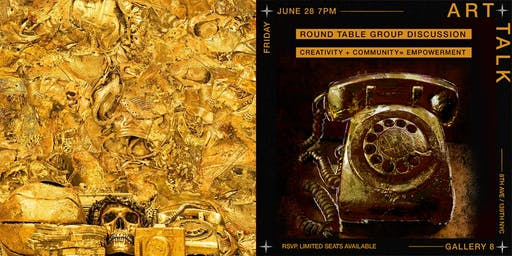 COMMUNITY ROUND TABLE CREATIVE TALK: at Andrew Thiele's NYC Art Exhibition