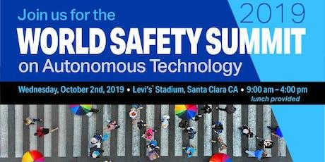 Velodyne Lidar Hosts World Safety Summit on Autonomous Technology, Oct. 2 tickets