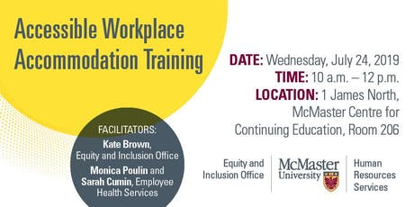 Accessible Workplace Accommodations Training tickets