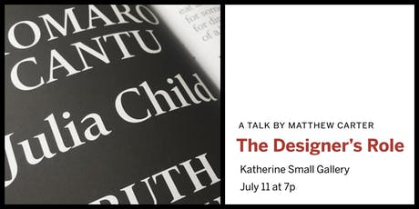 Matthew Carter: TheDesigner'sRole tickets