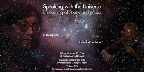 An Evening of Poetry and Music with Li-Young Lee and David Whetstone (DURHAM) tickets