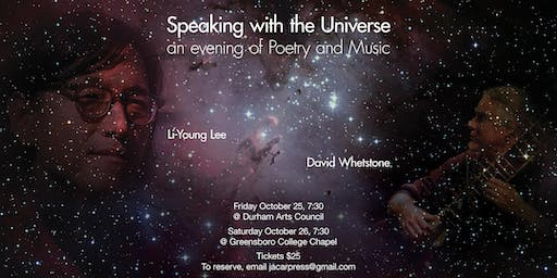 An Evening of Poetry and Music with Li-Young Lee and David Whetstone (DURHAM)