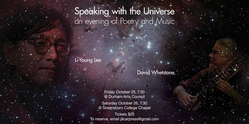 An Evening of Poetry and Music with Li-Young Lee and David Whetstone (GREENSBORO)