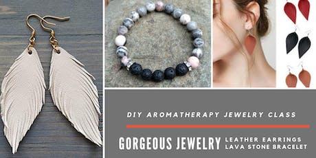 Custom Leather & Aromatherapy Jewelry Class tickets