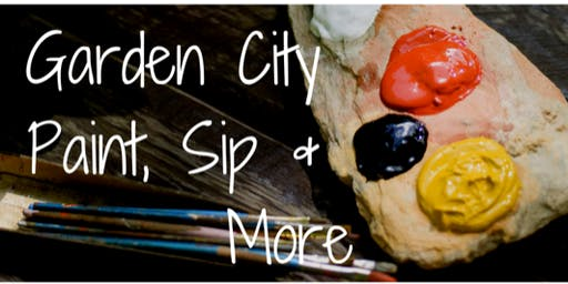 ALOHA... IT'S GARDEN CITY PAINT, SIP AND MORE  COUPLES LUAU PAINT PARTY