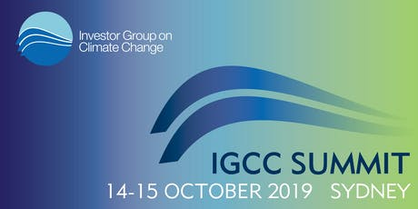 IGCC 2019 Climate Change Investment & Finance Summit  tickets