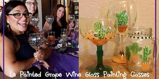Wine or Beer Glass Painting Class @ Brewmented 9/20 @ 6pm