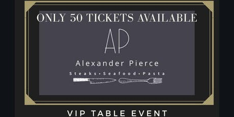 ALEXANDER PIERCE A TASTE FOR CHARITY  tickets