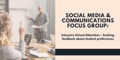 Social Media & Communications Feedback: Focus Group with Student Support