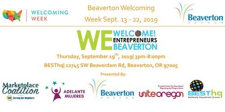 We Welcome Entrepreneurs Beaverton tickets