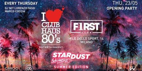 Copia di Giovedi Inaugurazione CLUB HAUS 80s | First Club | FREE ENTRY in Lista Williams biglietti