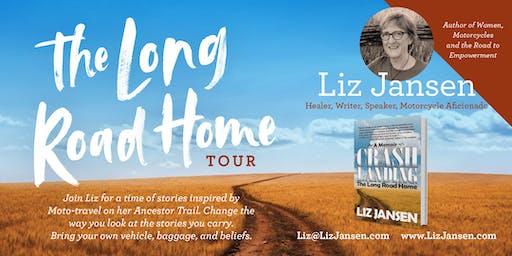 Liz Jansen Long Road Home Book Tour—Latus Motors Triumph