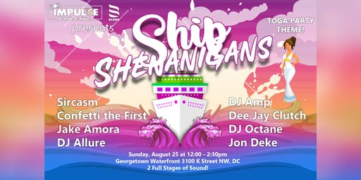 Ship Shenanigans : Toga Themed Boat Party by Impulse Collective & Blend DC