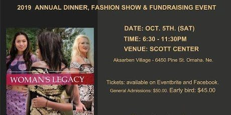 A WOMAN LEGACY ANNUAL DINNER, FASHION SHOW & FUNDRASING RED CARPET EVENT tickets