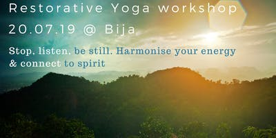 RESTORATIVE YOGA WORKSHOP with Carmen Ceniza
